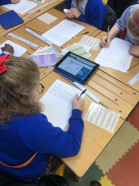 Using an online dictionary to improve our spellings