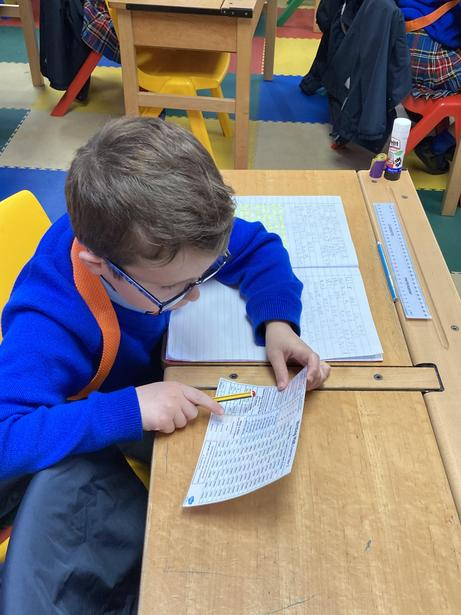 Checking over our key spellings