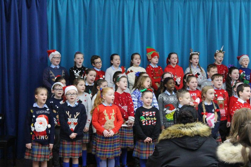 Year 3 pupils performing in the Christmas Concert