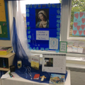 Y6 are ready for the month of the Rosary and and RE display on Loving is looking splendid!