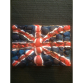 A Union Jack made of stones