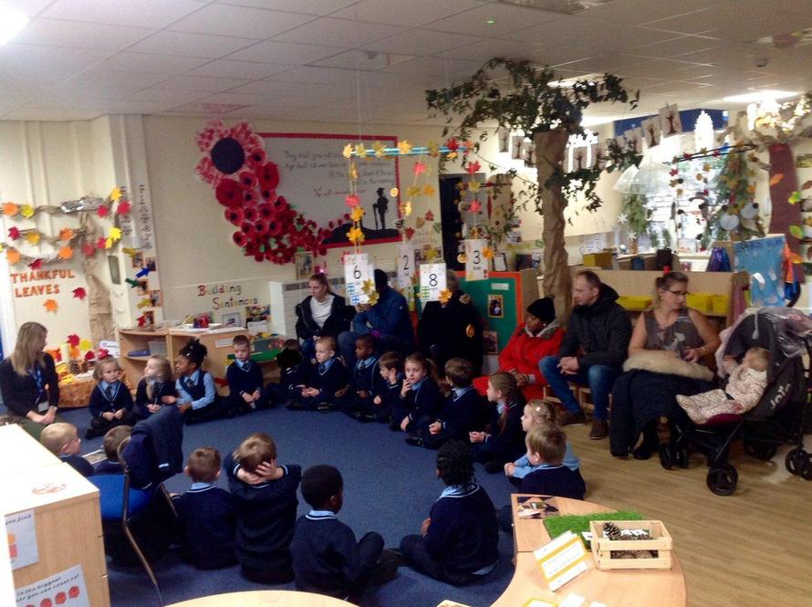 In today's RE lesson some parents joined us.