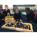 In Year 1, we were exploring the church. We built a church in class and discussed with others which were important parts.