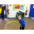 I enjoy playing with the hula hoops