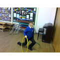 Playing with the Hula Hoops