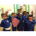 """Heart for sharing"" said Connor. ""They do happy words"" he said about being kind."