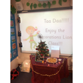 Chippy decorated our classroom to say thank you for solving the 'Santa Mystery!'