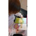 Popy enjoying reading