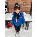 Grayson's snowmen for measuring