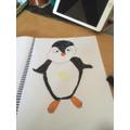 Owen drew a penguin!