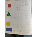 We labelled shapes and their number of sides.