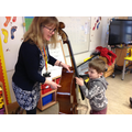 We love learning about instruments during Music.