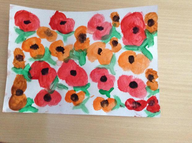 Watercolour poppies for Remembrance Day