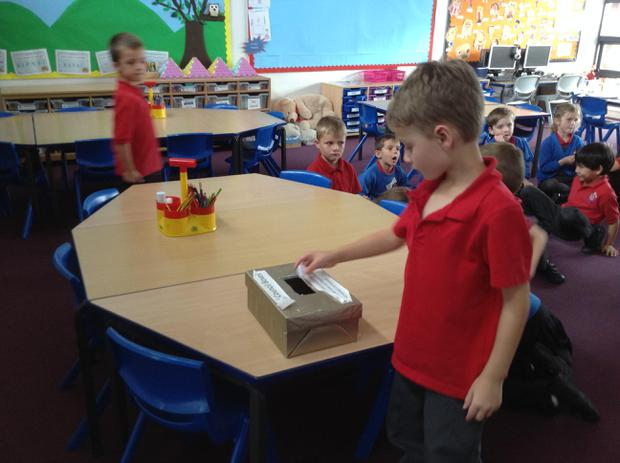 Voting for our new school councillor