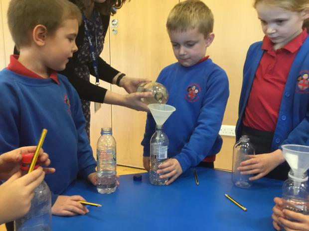 Science week - making lava lamps!