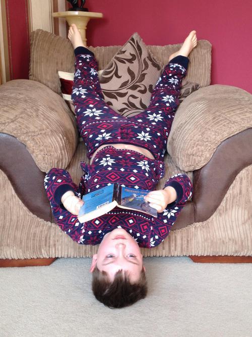 Reading upside-down