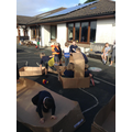 Creative role play using boxes as props