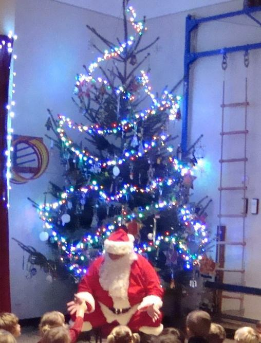 KS1 visit from Father Christmas