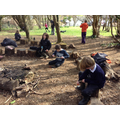 March - We are whittling mini totem poles