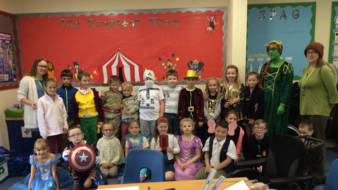 We dressed up as our favourite book characters.