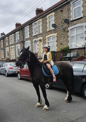 Nicole horse-riding