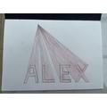 Alex perspective lettering