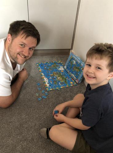Max & Dad enjoying a jigsaw