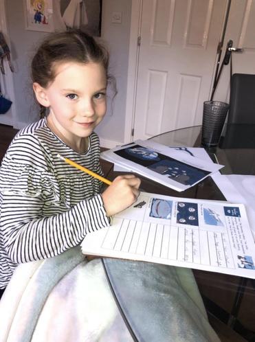Lily enjoying work on The Runaway Iceberg