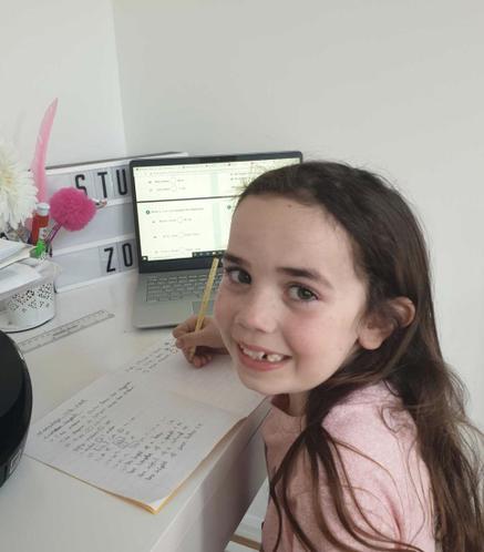 Elissia working hard