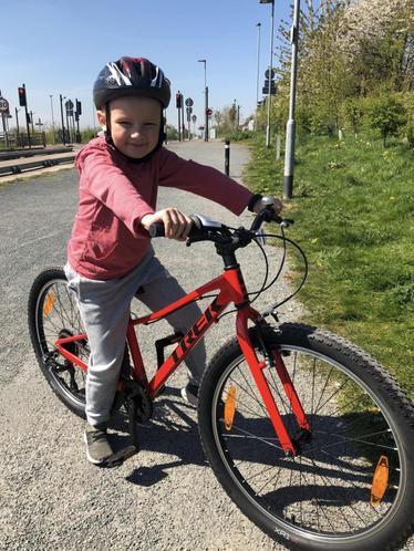 Oscar on a bike ride