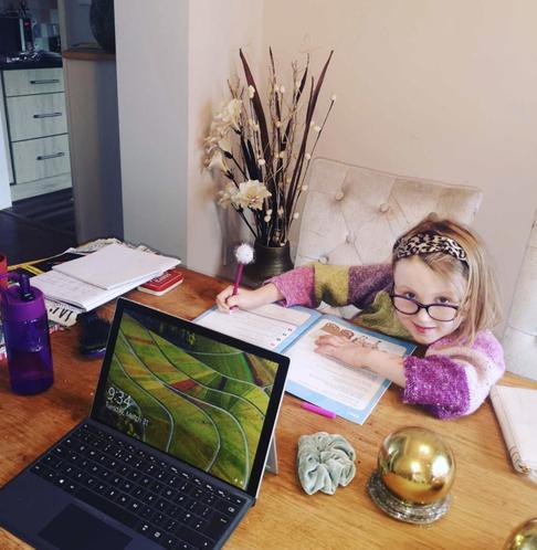 Ariane working hard at home