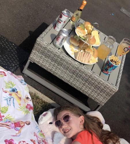 Lily relaxing on VE day
