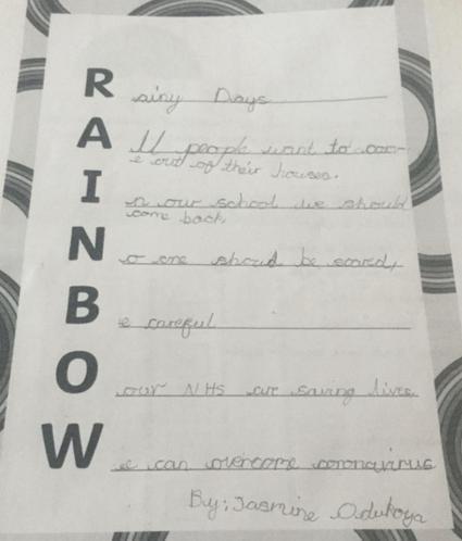 Jasmine's rainbow poem