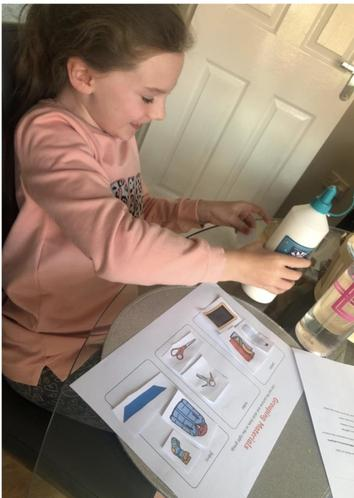 Lily enjoying her Science work