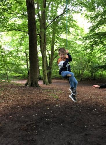 Max on a rope swing