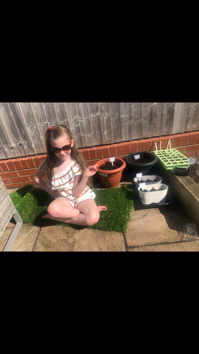Lily doing some planting