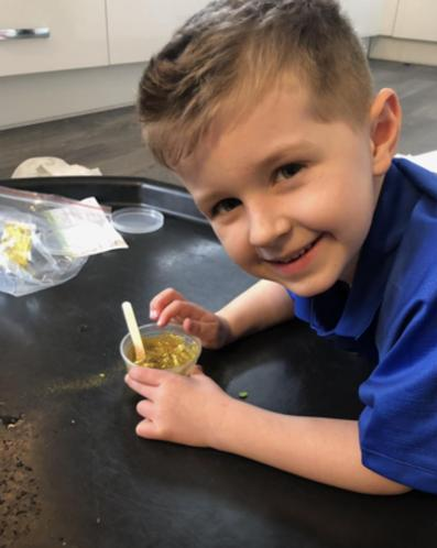 Max making slime