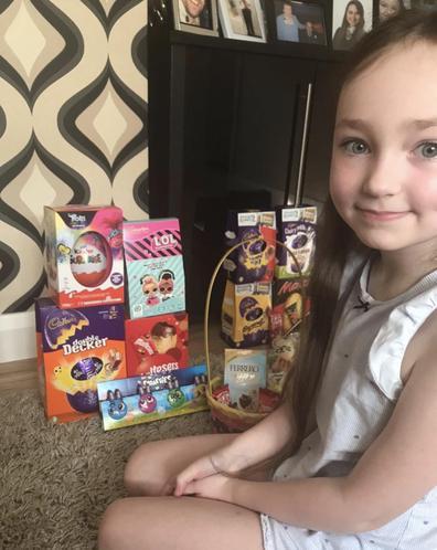 Emilia had fun at Easter!