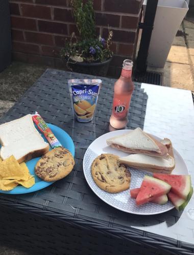 Emilia's picnic lunch