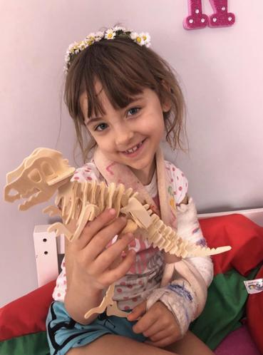 Nadia made a dinosaur model