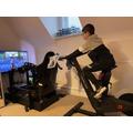 Alex exercising!
