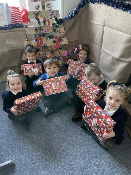 They all received a gift from Santa