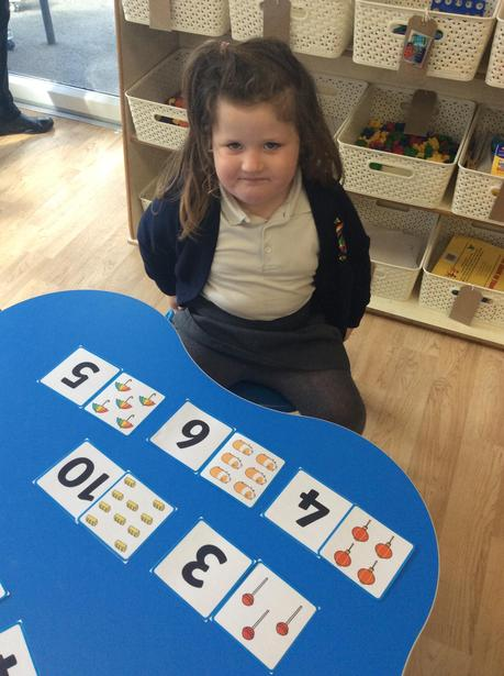 Matching numeral to quantity