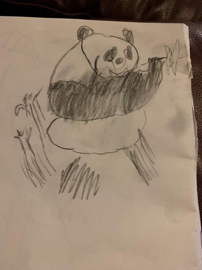 Tommie's drawing of a panda