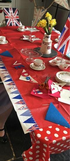 Izzy's decorative table for VE day