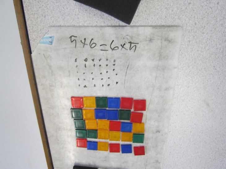 6x5 = 5x6 using arrays.
