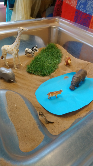 African watering hole for small world play