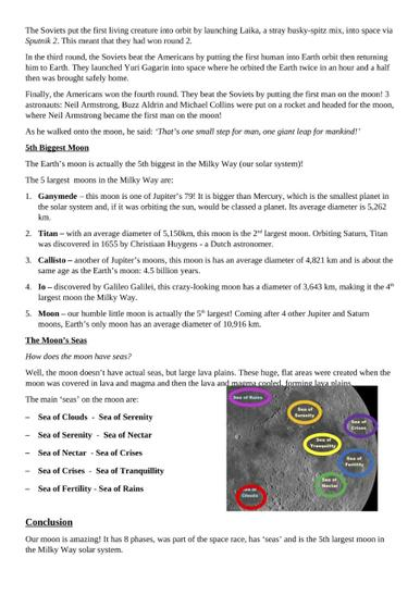 Moon Fact File Page 2