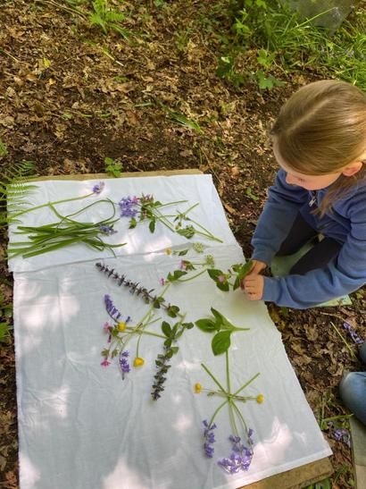 Elspeth working with nature