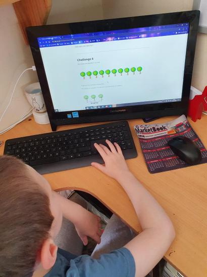 Riley is using BBC Bitesize for his lessons
